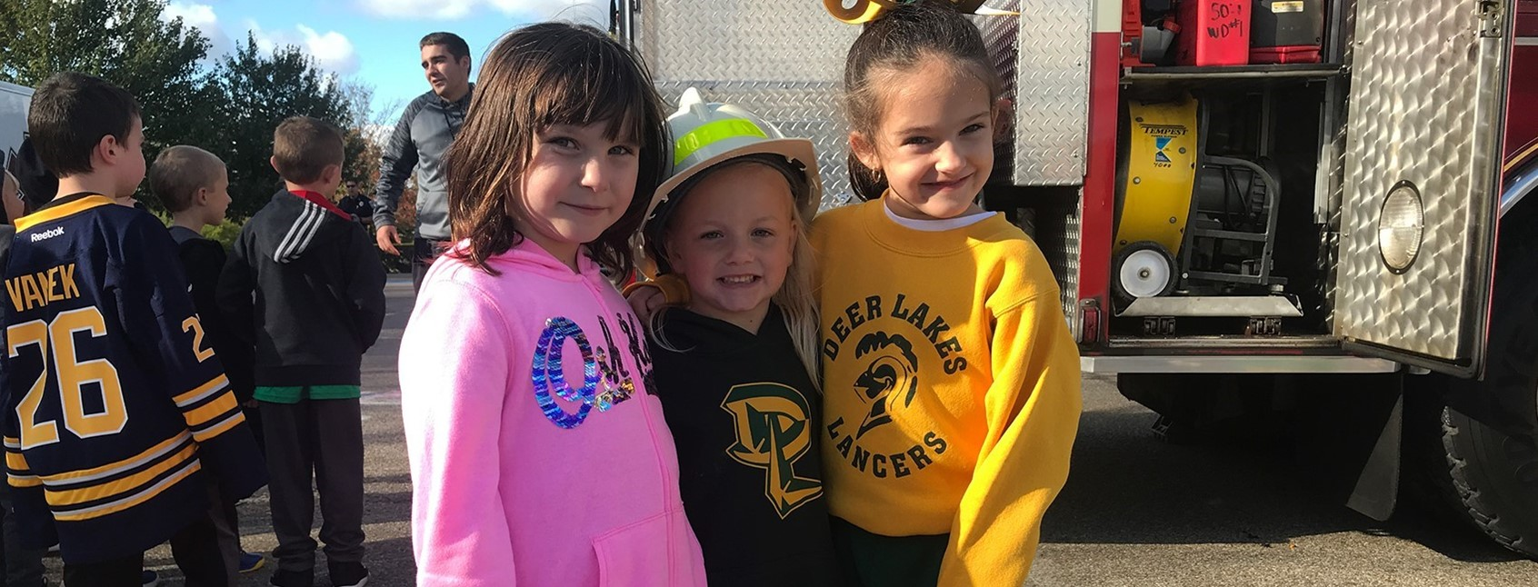 Local First responders visit Curtisville Primary Center