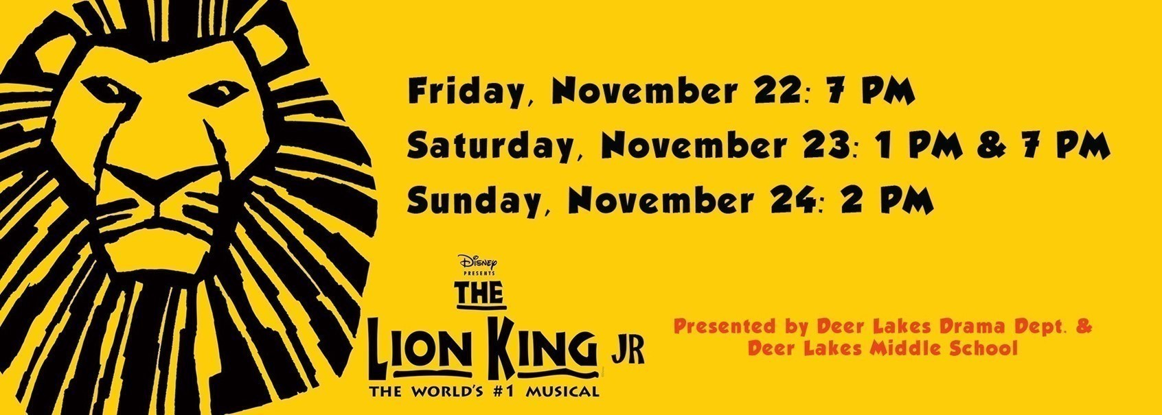 Deer Lakes Middle School to present The Lion King Jr.: Nov. 22-24