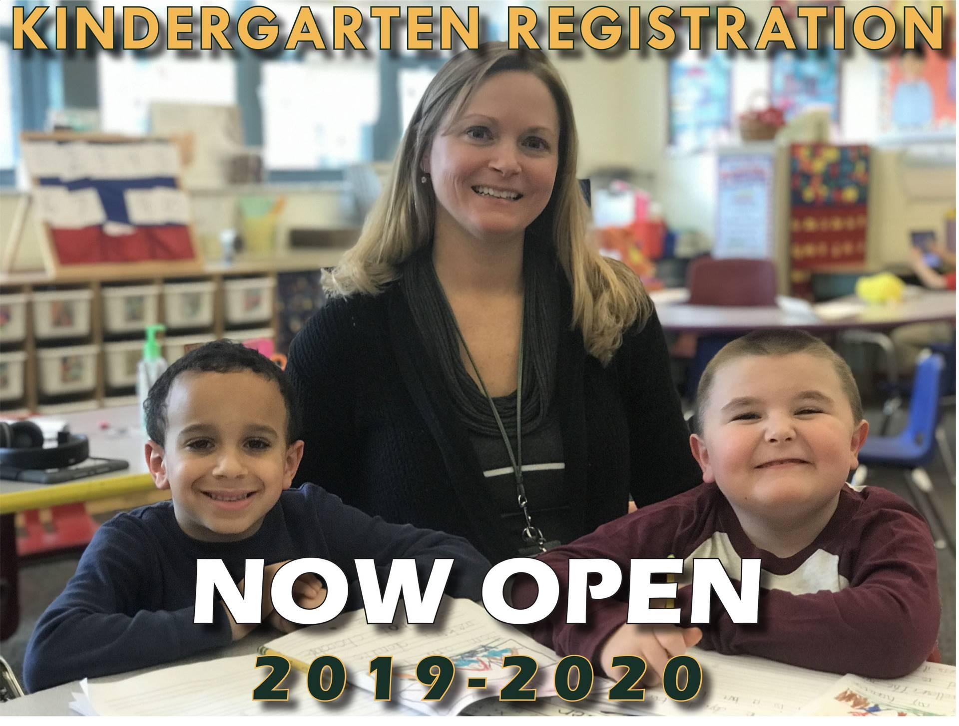 Kindergarten Registration Now Open