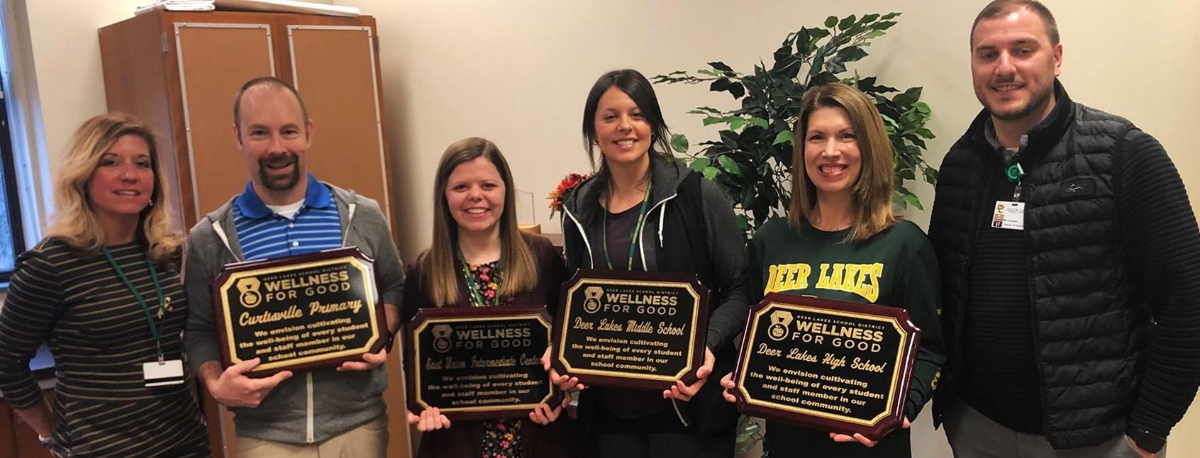 Deer Lakes Wellness Committee issues school plaques