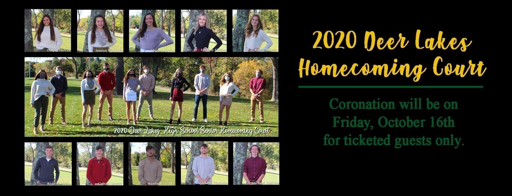 Homecoming Court 2020