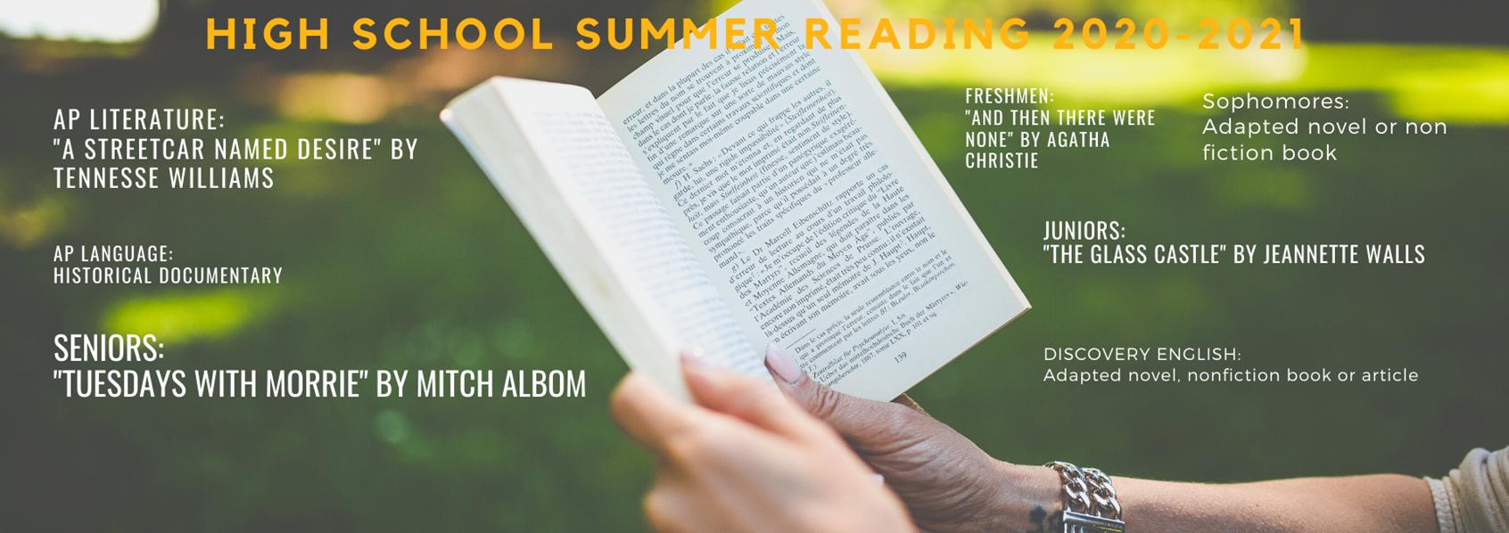 DLHS Summer Reading 2020-21