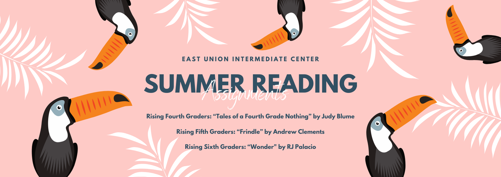 East Union Summer Reading 2020-2021