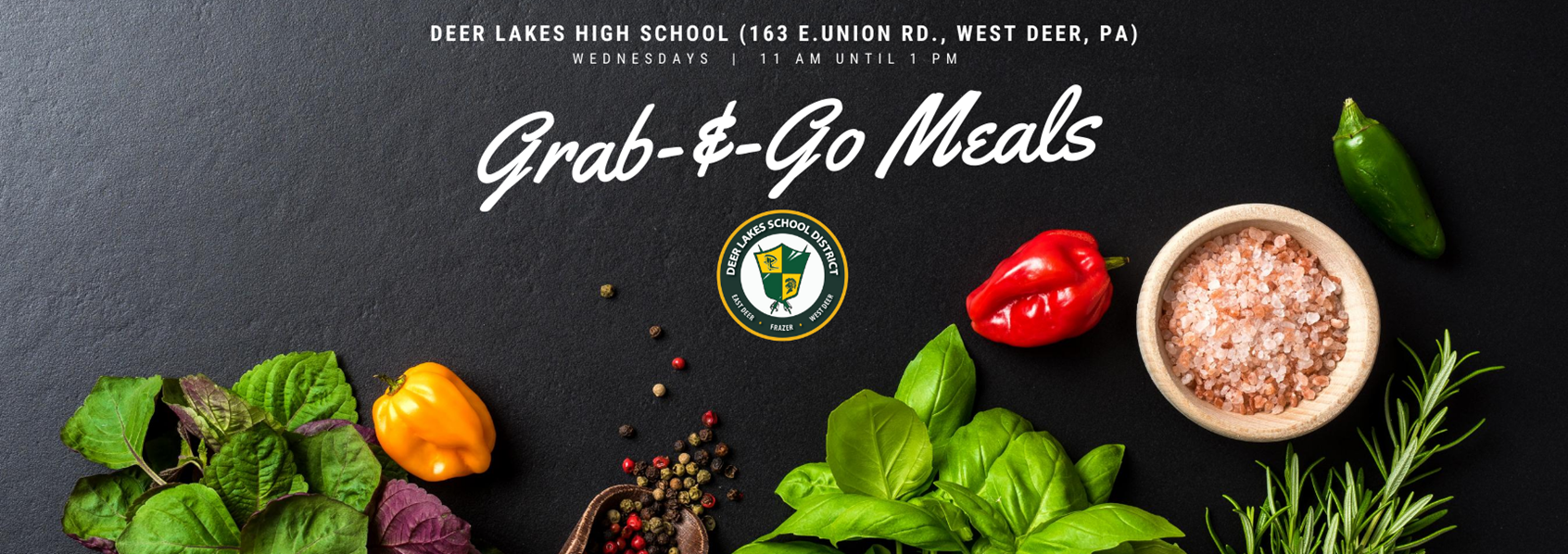 Grab-&-Go Meals: Wednesdays from 11 a.m. to 1 p.m.