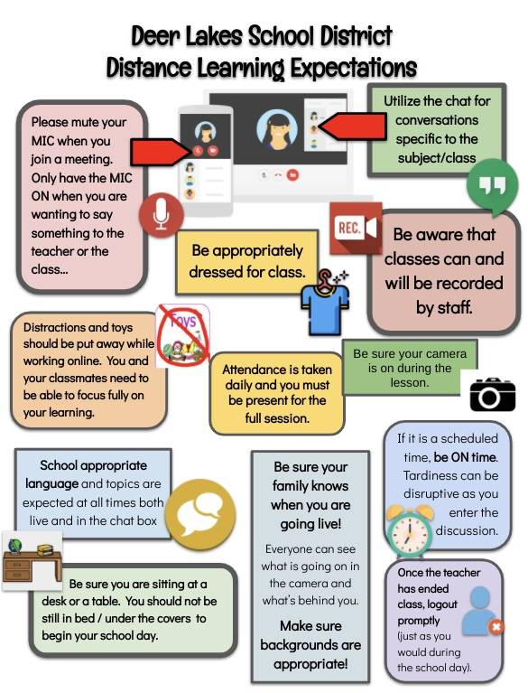 DL Distance Learning Expectations