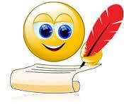 smiley writing
