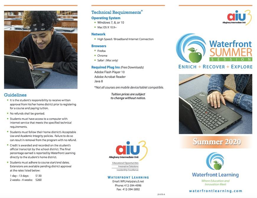 Waterfront Learning Brochure